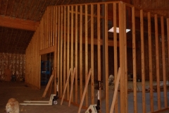 Replica clan house interior wall framed. 1-25-14