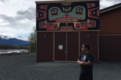 Jones Leader of the Whale House saying a blessing