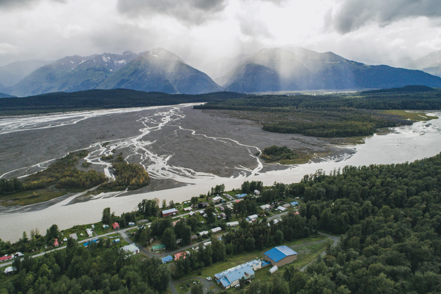 Arial View of Chilkat Valley